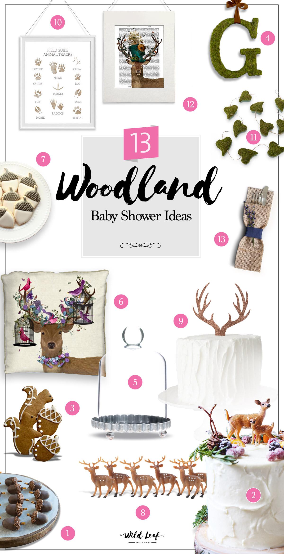 13 Woodland Baby Shower Ideas