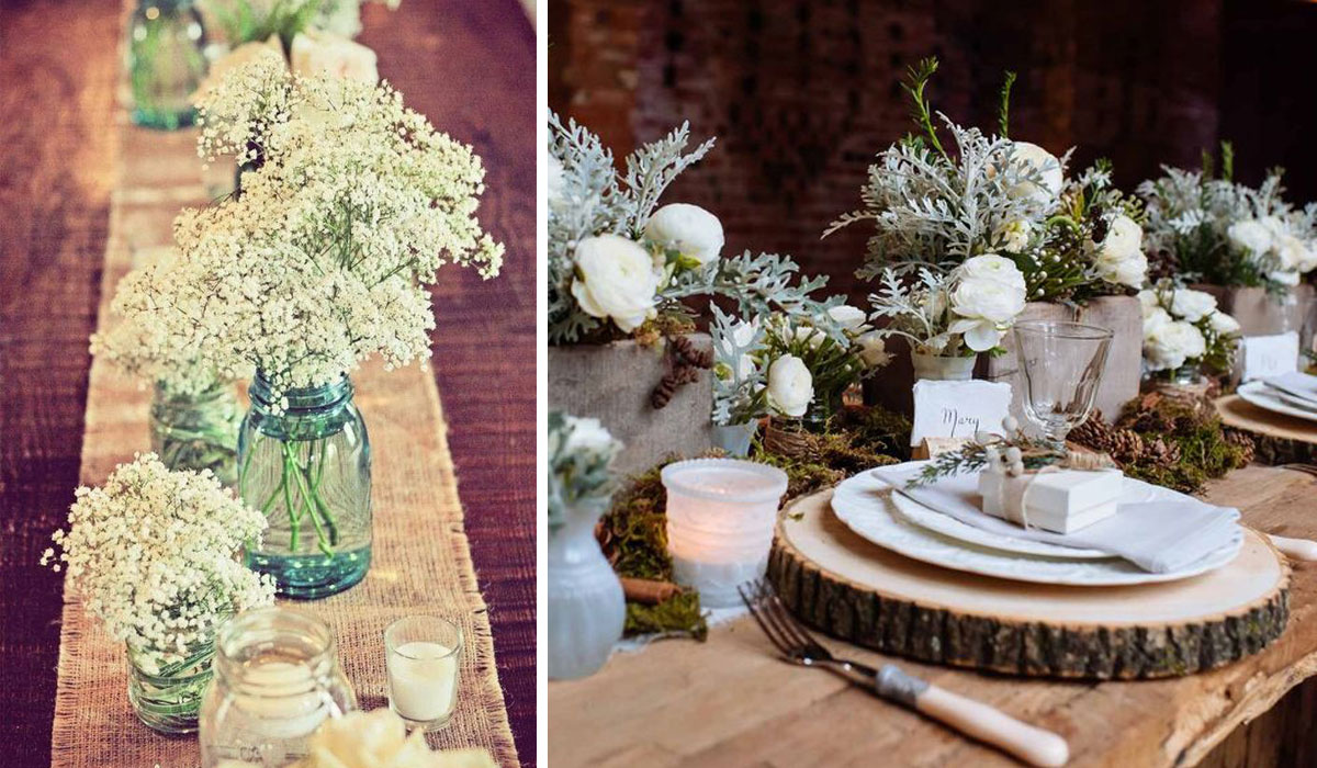 A Rustic Wedding Table Runner You Don T Have To Be Thinking About Expensive And Plush Fabrics Burlap Hessian Even Bark Can Used Evoke The